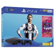 PlayStation4 500GB FIFA 19 (Disc) & Extra DualShock 4 Controller-Black Only £239