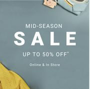 Mid-Season Sale Now On! Upto 50% Off at Mamas & Papas!