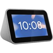 """Lenovo Voice-Controlled Smart Clock with Google Assistant - 4"""" Screen"""