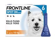 FRONTLINE Spot on Flea & Tick Treatment for Small Dog (2-10kg) 6 Pipettes