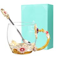 Flower Tea Cup, Wisolt Lead-Free Handmade Cup