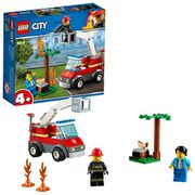 LEGO Fire Barbecue Burn out with Fire Engine Truck Toy, Fireman Minifigure