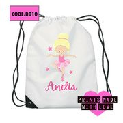 Personalised Ballerina Ballet Kids Bag / Swimming Bag / Swim Bag
