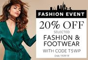 20% off Selected Fashion & Footwear
