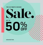 Up to 50% off in the Oasis Sale