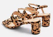DITA Leopard Strap Sandals Down From £32 to £10