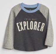 Baby Graphic Raglan T-Shirt Now £4.99