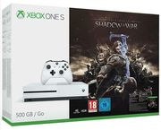 Xbox One S 500GB Console + Shadow of War Bundle - White Only £229.99