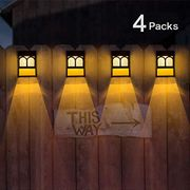 Solar Fence Lights, Solar LED Outdoor Wall Lights
