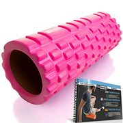 Fit Nation Foam Roller for Muscle Massage with Exercise Book, Ultra Lightweight