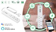Surge-Protected Extension Plug with USB & Wi-Fi Works with Alexa & Google