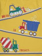 Mustard Tractor Print Mock Layer Long Sleeve Top(1-1.5yr)