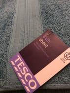 Tesco Bath Sheet - Heritage Blue & Grey