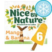 Nice by Nature Mango & Banana Lollies 6X40ml