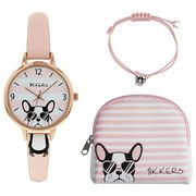 Tikkers Pink Dial Watch Purse and Charm Bracelet Set Click & Collect