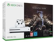 XBOX ONE S 500GB CONSOLE + SHADOW of WAR BUNDLE - WHITE Only £209.99