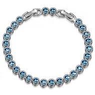 Lightning Deal Susan Y Ballad for Adeline Crystal Aquamarine Tennis Bracelet