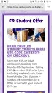 £9 Student Offer at Cadbury World