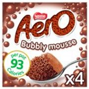 Aero Mousse, Milk Chocolate/Mint Chocolate 4 X Pots