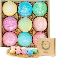 Bath Bombs Gift Set Natural Bath Supplies 9 Pcs Bath Set for Women Fragrance