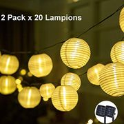 40% off GIGALUMI 2 Pack Solar String Lights Lanterns Outdoor Solar