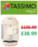 SAVE £68 - Bosch Tassimo Vivy 2 Coffee Machine - Cream