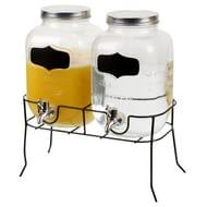 4L Twin Glass Drink Dispenser