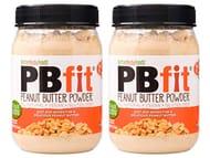 PBfit All-Natural Peanut Butter Powder, 225g (Pack of 2) Peanut Butter Powder