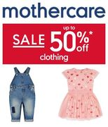 1/2 PRICE - BABY & TODDLER CLOTHING SALE at MOTHERCARE