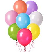 Playlearn Pack of 100 Quality Multi Coloured Latex Party Balloons