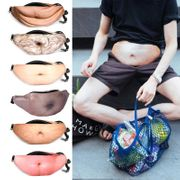 Novelty Dad Bod Bum Bag - Fat Hairy Belly Fanny Pack