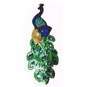 Sequin Peacock Embroidery Patch Accessory (32x12cm)