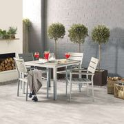 LA Grey 4 Seat Dining Set