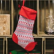 Knitted Fairisle Christmas Stocking