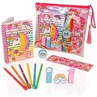 Style Girlz Deluxe Unicorn Stationery Set - Girls Colouring Pencils