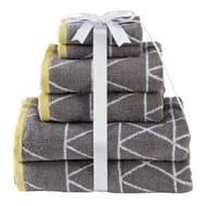 Argos Home 6 Piece Towel Bale - Geometric