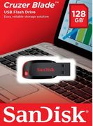 SanDisk 128 GB Cruzer Blade USB 2.0 Flash Drive