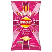 Walkers Prawn Cocktail Crisps 6 Pack on Sale