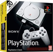 Sony PlayStation Classic Console (20 Games Pre-Installed, 2 Controllers)
