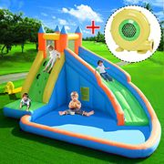 COSTWAY Inflatable Bouncy Castle Outdoor Garden Kids Jumper House Water Slide