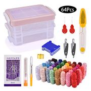 Save 30% Embroidery Threads, BASEIN Colourful Embroidery Threads Set 64Pcs