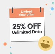Unlimited Data for £18.75 Sim Only with Smarty
