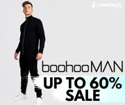 boohooMAN up to 60% off Sale plus Delivery Offers