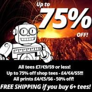 Qwertee T Shirt Sale. T Shirt & Prints from £4