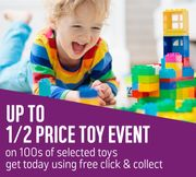 Deal Stack - up to Half Price Toys + Extra 10% off WYS £50 - Bargain Lego!