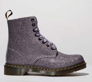 Dr Martens Multi Pascal 8 Eye Glitter Boots Size 3, 4, 5
