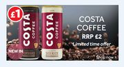 New in at Poundland Costa Ice Coffee