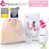 Premium NatureBond Silicone Breastfeeding Manual Breast Pump Milk Saver