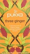 Pukka Three Ginger, Organic Herbal Tea with Galangal & Turmeric 4 Pack X 80 Bags