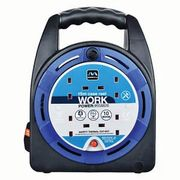 15m Masterplug 4 Socket Thermal Cut-out Case Reel - Blue 17%off at Wickes